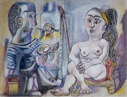 Pablo Picasso. The Artist and His Model 6