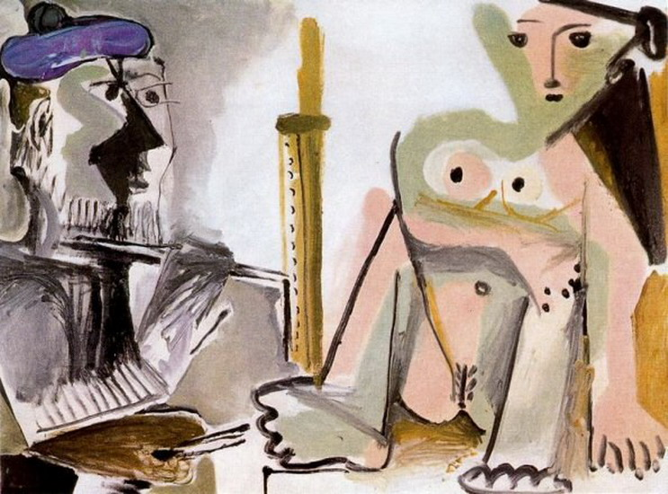 Pablo Picasso. The Artist and His Model 5, 1964