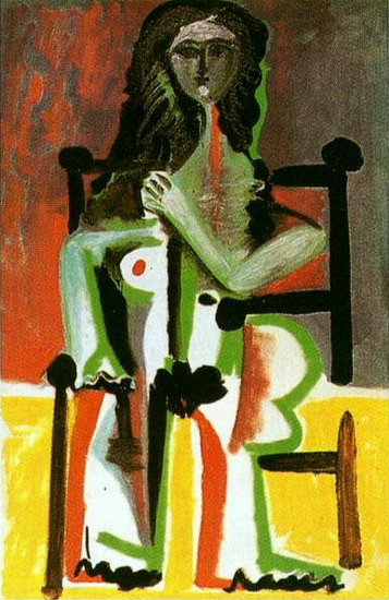 Pablo Picasso. Nude sitting in a chair II, 1963