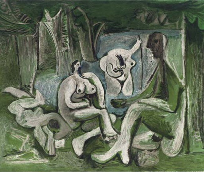 Pablo Picasso. The Luncheon on the grass (Manet), 1960