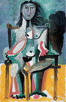 Pablo Picasso. Nude sitting in a chair I