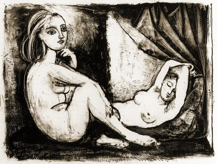Pablo Picasso. The two naked women III (1945), 1946