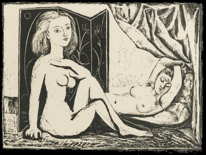 Pablo Picasso. The two naked women IX, 1946