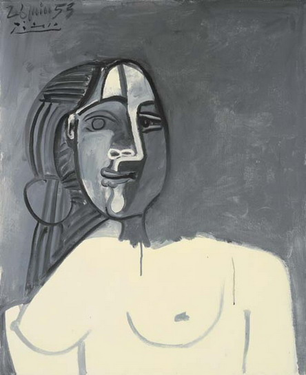 Pablo Picasso. Female bust, 1953