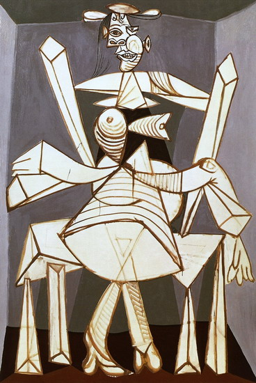 Pablo Picasso. Woman sitting in an armchair (Dora), 1938
