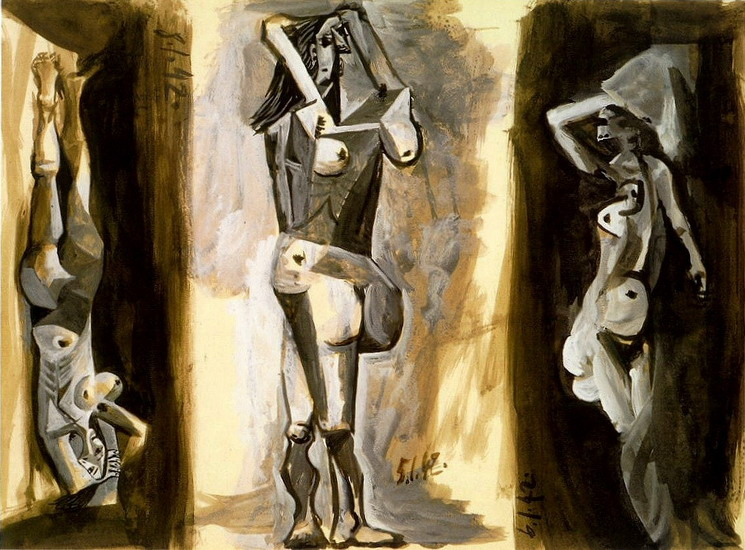 Pablo Picasso. L`aubade (Three naked women) [study], 1942