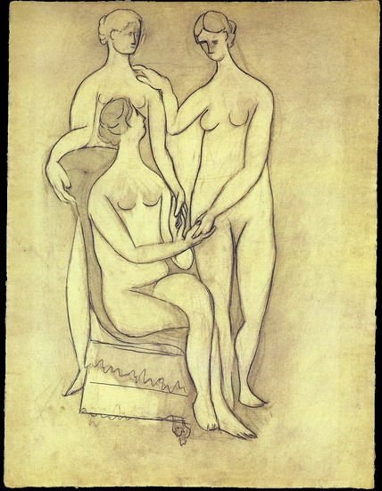 Pablo Picasso. Three women (rhythmic Version), 1908