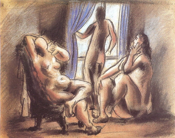 Pablo Picasso. three naked, 1906