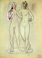 Pablo Picasso. Two naked feminine