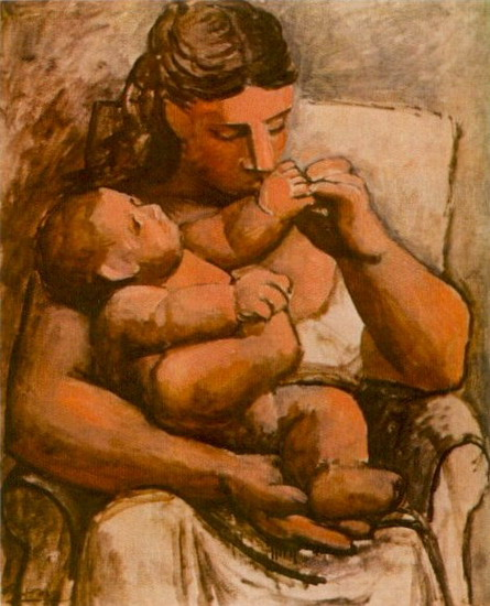 Pablo Picasso. Mother and child (Mother and Child), 1921