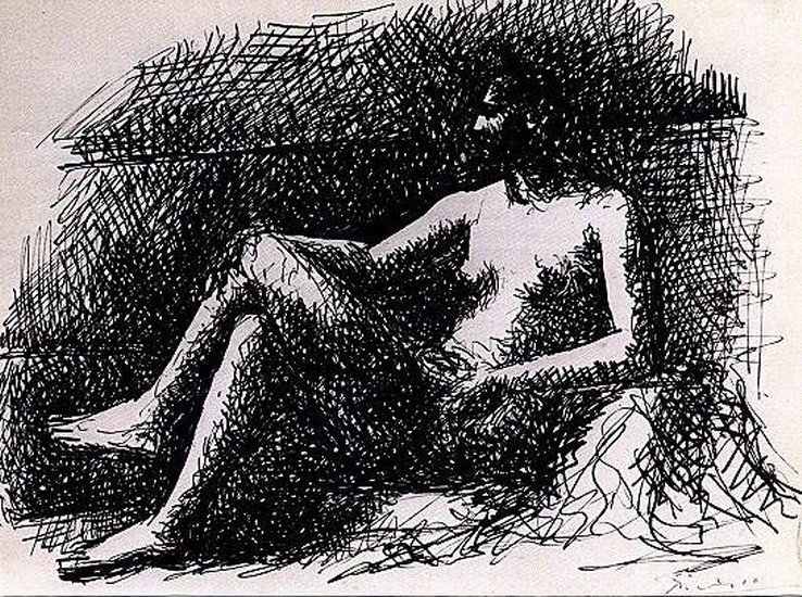 Pablo Picasso. Seated Nude, 1921