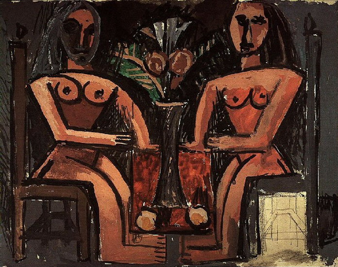 Pablo Picasso. Two women sitting, 1907