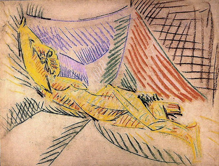 Pablo Picasso. Reclining Nude, 1942