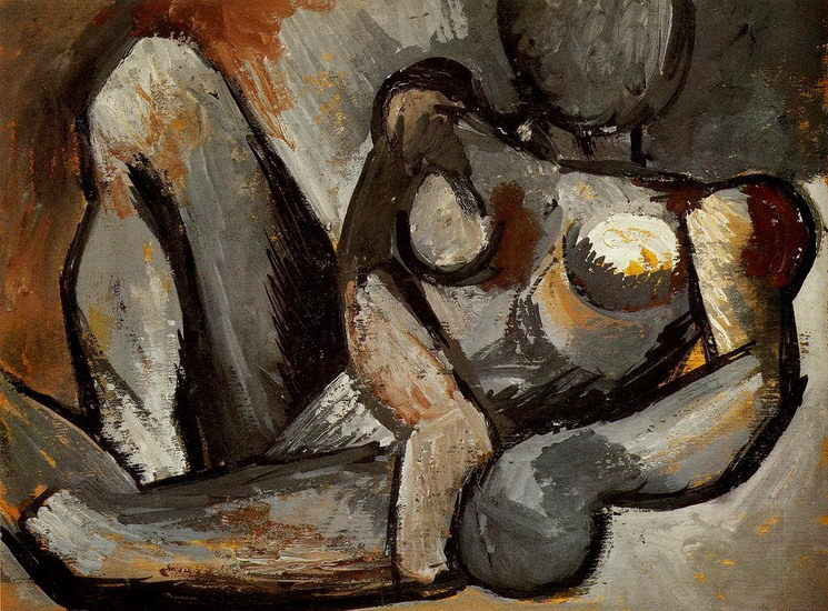 Pablo Picasso. Reclining Nude, 1908