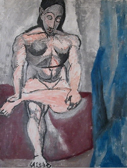 Pablo Picasso. Seated Nude, 1907