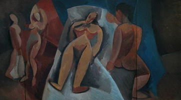 Reclining Nude with characters