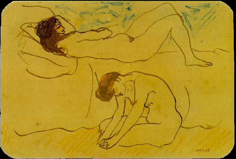 Pablo Picasso. Two naked, 1902