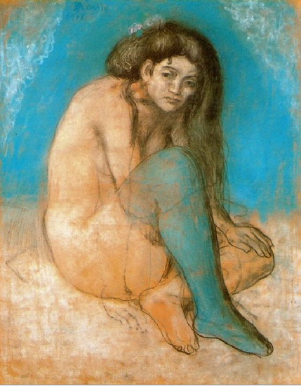 Pablo Picasso. Naked woman sitting, 1901