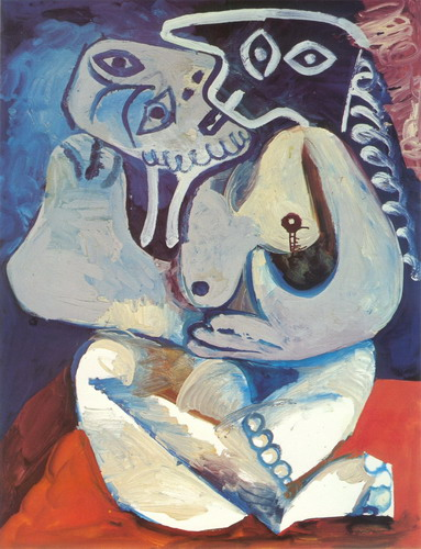 Pablo Picasso. Woman in an armchair, 1971