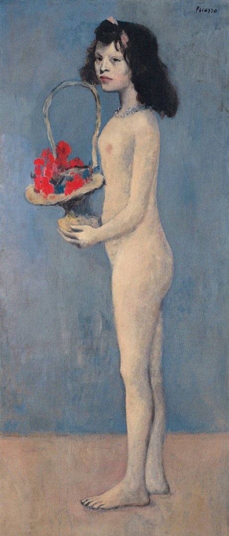 Pablo Picasso. Young Girl with a Flower Basket, 1905
