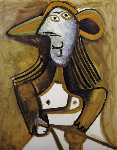 Pablo Picasso. Woman with hat, 1971