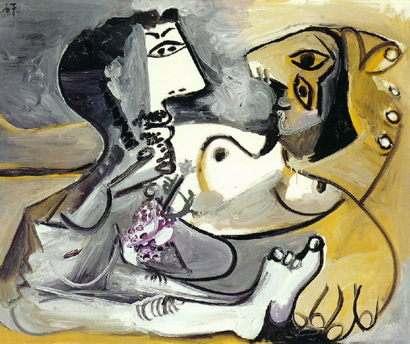 Pablo Picasso. Nude man and woman, 1967