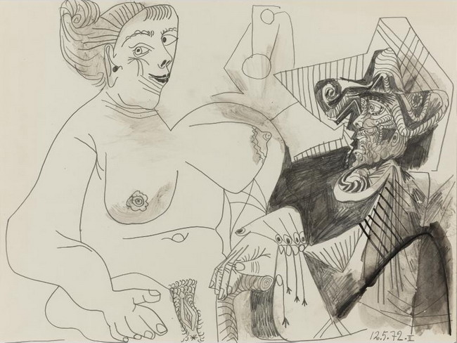 Pablo Picasso. The gallant musketeer, 1972
