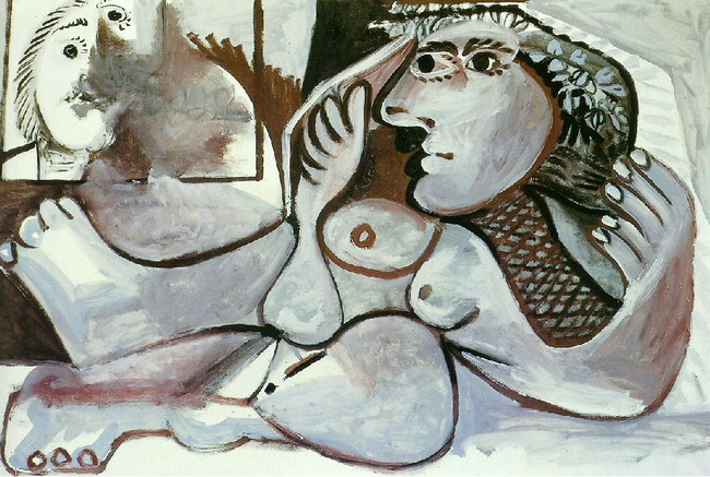 Pablo Picasso. Reclining Nude Е the wreath, 1970