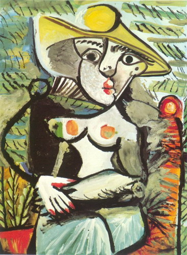 Pablo Picasso. Sitting woman with a hat , 1971