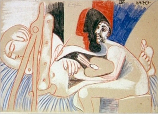 Pablo Picasso. The Artist and His Model 7, 1970