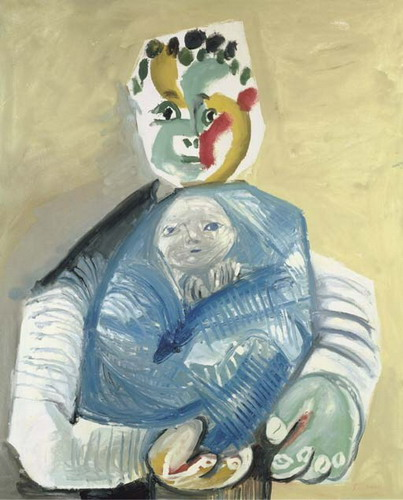 Pablo Picasso. Man carrying a child, 1965