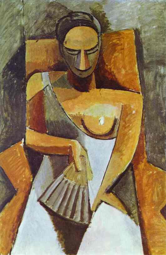 Pablo Picasso. Woman with a Fan, 1908