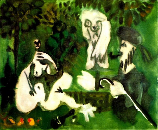 Pablo Picasso. The dejenuer on the grass (Manet) 3, 1960