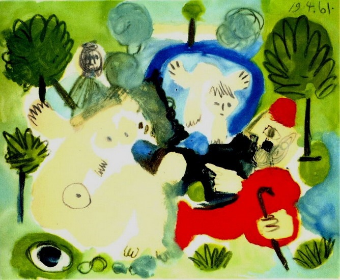 Pablo Picasso. The Luncheon on the grass (Manet) 1, 1961