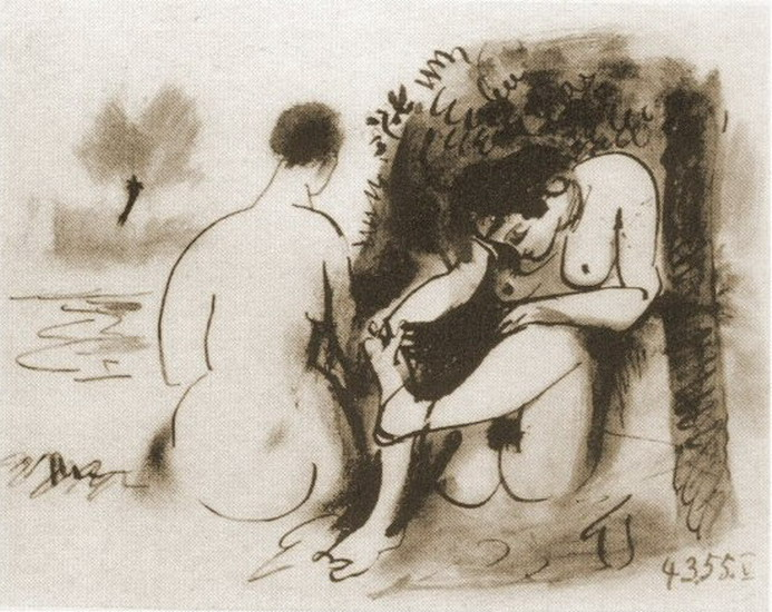 Pablo Picasso. The two naked women V, 1946