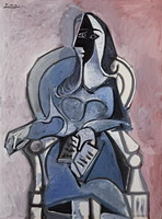 Woman sitting in a chair II